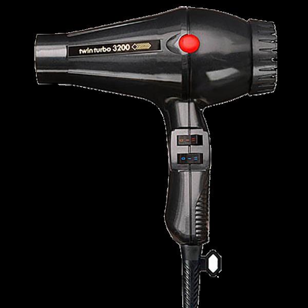 turbo power twin turbo  hair dryer black a
